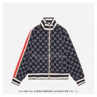GC GG Jacquard Cotton Jacket Blue/Ivory