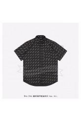 BC Allover Logo Normal Fit Shirt Black