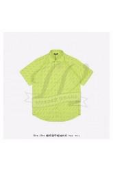 BC Allover Logo Short Sleeve Shirt in neon yellow