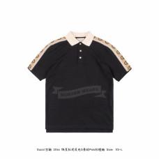 GC Polo with Interlocking G stripe black cotton piquet