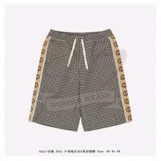 GC Houndstooth shorts with Interlocking G stripe