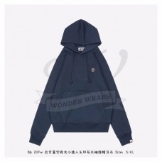 BAPE Space Camo College Pullover Hoodie Navy