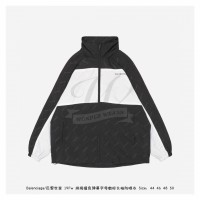BC Allover Logo Zip-Up Jacket in Black and White