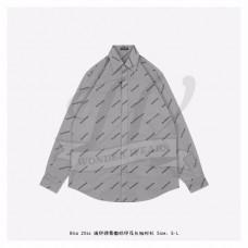BC Allover Logo Long Sleeve Shirt in Grey
