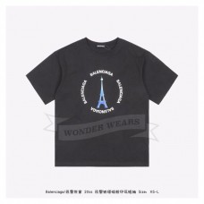 BC Eiffel Tower Print T-shirt Black
