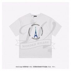 BC Eiffel Tower Print T-shirt White