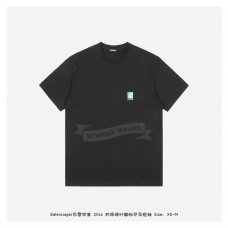 BC Green Leaf Print T-shirt Black