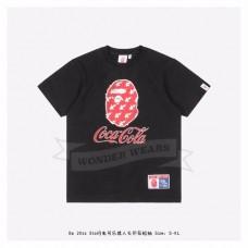 Bape & Coca-Cola Star Flash Ape Head Print T-shirt Black