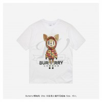 BR 3D Colorful Deer Print T-shirt White