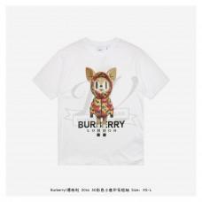 BR 3D Colorful Deer Print T-shirt White