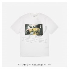 BR Abstract Painting Print T-shirt White