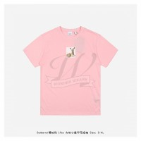 BR Deer Print Cotton T-shirt Candy Pink
