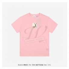 BR Deer Print Cotton T-shirt Candy Pink