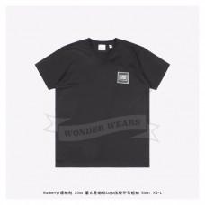 BR Logo Applique Cotton T-shirt Black