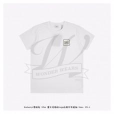 BR Logo Applique Cotton T-shirt White