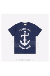 GC Anchor print oversize T-shirt Blue