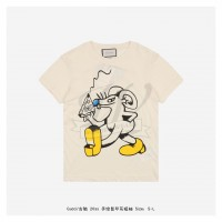 GC T-shirt with Hand Painted Mouse print White