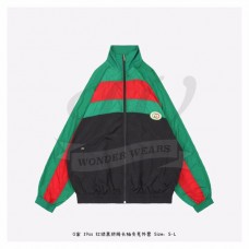 GC Interlocking G Black Green Red Color Patch Oversize Jacket