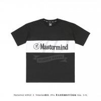 Mastermind WORLD & Timberland 19FW LOGO Print T-shirt Black/White