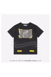 Off White 15FW Angle Yellow Arrows Print T-shirt Black