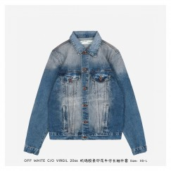 Off White Airport Tape Jeans Jacket
