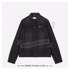 Off White Black Denim Jacket
