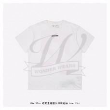 Off-White MARKER S/S OVER T-SHIRT White Blue