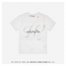 Off White Pencil Hand Drawn 3D Arrow T-shirt White