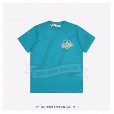 Off-White Tape Arrows T-Shirt Blue/Beige