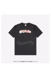 Supreme Rainbow Candy Box Logo Print T-shirt Black