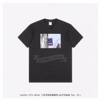Supreme Smiley Logo Banner T-shirt Black