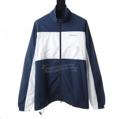 BC Zip-Up Jacket in blue and white cotton poplin