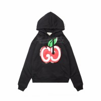 GC Hooded sweatshirt with GG apple print Black