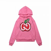 GC Hooded sweatshirt with GG apple print Pink