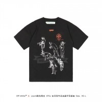 "LOUVRE MUSEUM X Off White ""DA VINCI"" Oil Print T-shirt Black"