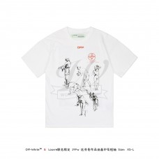 "LOUVRE MUSEUM X Off White ""DA VINCI"" Oil Print T-shirt White"