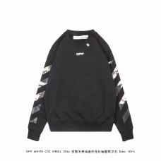 Off White Caravaggio Arrows Over Sweatshirt Black