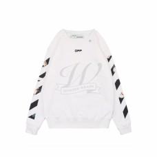 Off White Caravaggio Arrows Over Sweatshirt White