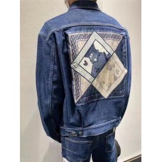 DR And Kenny Scharf Mkii Blouson Raw Blue Technical Cotton Denim