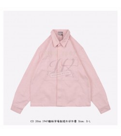 Dr Overshirt with 'DIOR 1947' Embroidery Pink