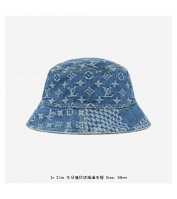 1V Damier Giant Wave Monogram Sun Hat