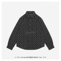 1V Flocked Monogram Classic Shirt