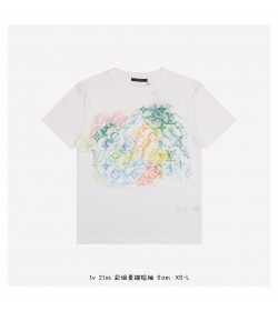1V Front Printed Pastel Monogram T-Shirt