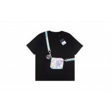 1V Hand-painted Colorful Bag Print T-shirt