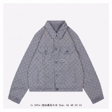 1V Monogram Denim Jacket Grey