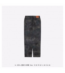 1V Regular Fit Spray Monogram Pants