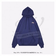 BC Logo Printed Hooded Sweater Blue
