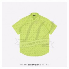 BC Allover Logo Short Sleeve Shirt in neon yellow
