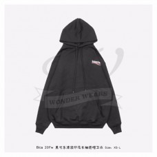 BC Logo Printed Hooded Sweater Black