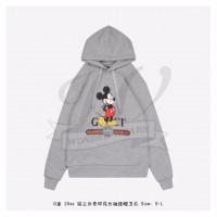 DSN x GC hooded sweatshirt in Grey
